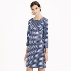 J. Crew Jet Set Geo Shift Dress Size 6